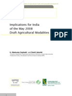 Implications  for India of the May 2008 Draft Agricultural Modalities