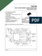 16W 16W Stereo Class-D Amplifier 50W Mono Btl