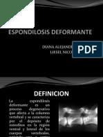 PRESENTACION ESPONDILOSIS DEFORMANTE