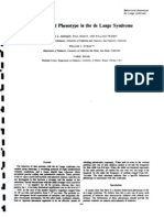 A Behavioral Phenotype in the de Lange Syndrome