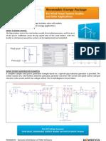 PSIM Renewable Energy Wind Solar