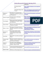 READ 6407 Action Research Digital Project Links Spring 2012
