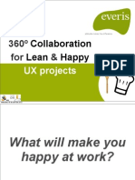 360º COllaboration for Lean & Happy UX projects