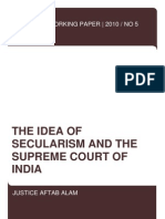 The Idea of Secularism and the Supreme Court of India - Justice Aftab Alam (Ver. 2)