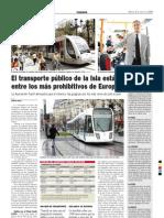 el transporte público de Tenerife, entre los más prohibitivos de Europa 9-8-2008