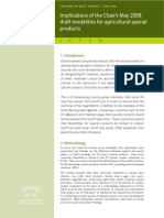 Implications of the Chair's may 2008 draft modalities for agricultural special products