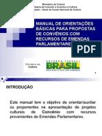 Manual de orientações básicas para propostas de convênios com recursos de emendas parlamentares