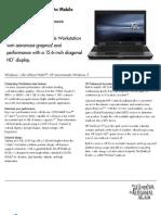 HP Elitebook 8540w Datasheet
