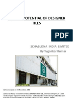 Market Potential of Designer Tiles
