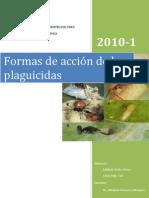Formas de acción de los plaguicidas