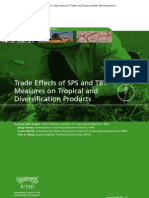 Trade Effects of SPS and TBT Measures on Tropical and Diversification Products
