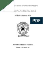 DSP Final Manual