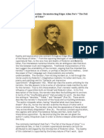 Deconstructing Edgar Allan Poe's the Fall of the House of Usher