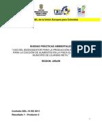 Uso del biodiogestor para la producción de gas natural para la cocción de alimentos en la finca el reposo en el municipio de Lejanías, Meta
