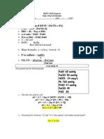 Math Pretest III Key