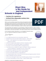 Brilliant Bins - The Sanitary Bin Guide for Schools in England Edition 7