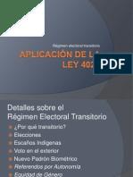 charla - ley 4021