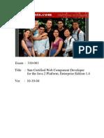 Actual Test - Sun Certified Web Component Developer for the Java 2 Platform, Enterprise Edition 1.4 (310-081)