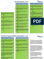 Scrum Project Safety Checklists
