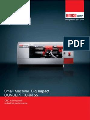 Emco Concept TURN 55 Brochure EN | Numerical Control | Machines