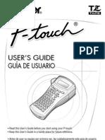 Manual Rotuladora PT1400 Brother