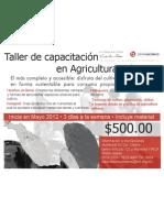 Flyer Taller de capacitación en agricultura urbana DF