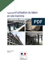 béton en site maritime