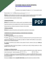 Boletín-Sistemas de Ecuaciones Lineales (Teoría)