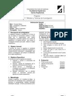 Carátula  Métodos y Técnicas de Investiación