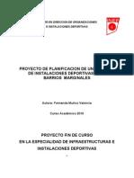 Planificacion de Un Modelo de Instalaciones Deportivas Para Barrios Margin Ales