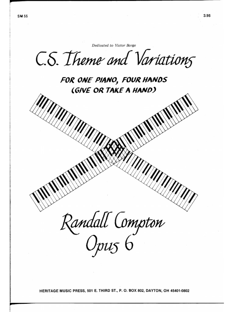 CS Theme and Variations (4 Hands)