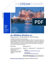 APIAVote Inaugural Briefing Flyer