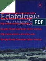 Edafologia Para La Agricultura y El Medio Ambiente Escrito Por Jaime Porta Casanellas-Marta Lopez Acevedo Reguerin