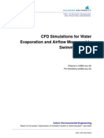 CFD Simulations for Water Evaporation and Airflow Movement in Swimming Baths 2