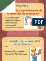 Unidad 3 Planeacion y Admon de La Capacidad de Produccion