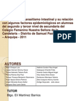 Prevalencia de parasitismo intestinal y su relación con