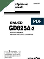 GD825A-2 OPERACIÒN Y MANTENCIÒN ESPAÑOL