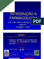 FARMACOLOGIA - Introducao a Farmacoinetica