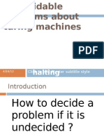 Undecidable Problems About Turing Machines