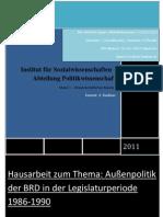 Außenpolitik BRD 1986-1990