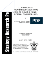 Contemporary counterinsurgency (COIN) insights from the French-Algerian War (1954-1962)