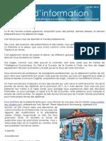 Newsletter du Master IESC n°2