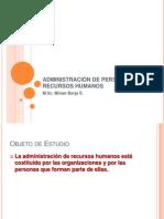 ADMINISTRACIÓN DE PERSONAL Y RECURSOS HUMANOS