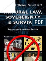 Natural Law Sovereignty and Survival