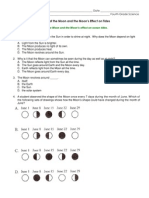 astronomy assessment phases of the moon- pre and post