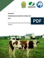 Proposal Kampung Ternak Sapi - UTS 2012