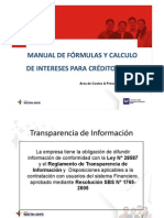 Manual Formulas y Calculos Interes Credito Pyme