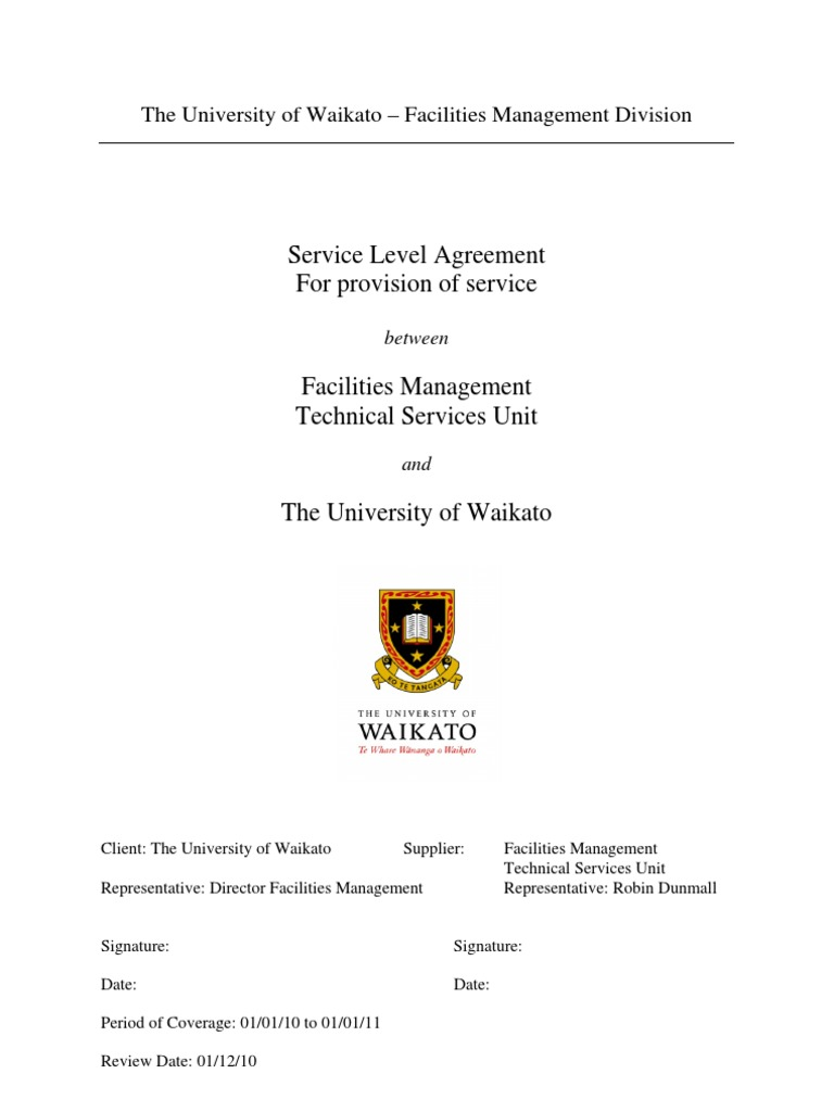 Service Level Agreement Performance Indicator Business Process