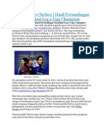 Barcelona vs Chelsea | Hasil Pertandingan Semifinal Leg 2 Liga Champion