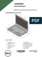 DELL E6520 Set Up and Info Tech Sheet